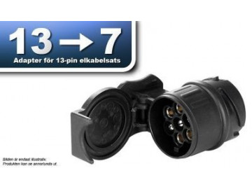 Elsatsadapter 13- till 7-polig